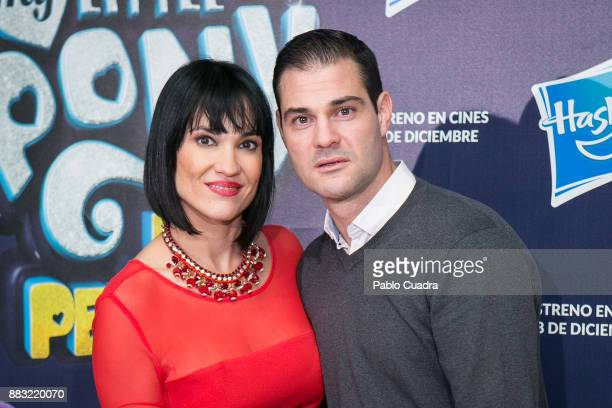 Irene Villa and her husband Juan Pablo Lauro attend 'My Little Pony' premiere at the Capitol cinema on November 30 2017 in Madrid Spain