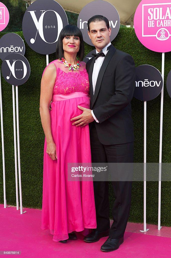 Irene Villa and husband Juan Pablo Lauro attend 'Yo Dona' International awards on June 27, 2016 in Madrid, Spain.