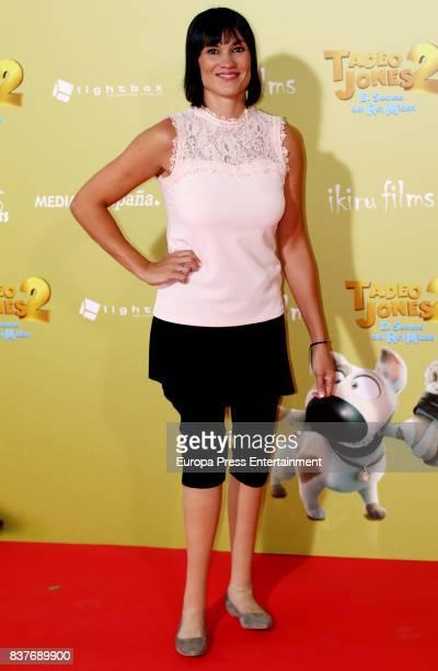 Irene Villa attends during 'Tadeo Jones 2 El Secreto Del Rey Midas' premiere at Kinepolis cinema on August 22 2017 in Madrid Spain