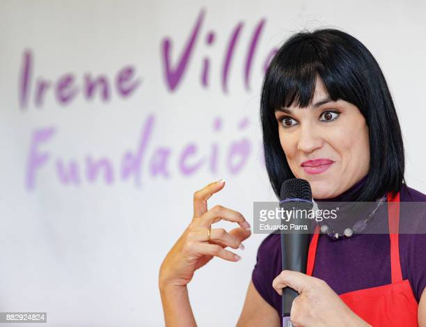 Irene Villa presents the 'Flor dulce de Navidad' campaign at Prodis Foundation on November 30 2017 in Madrid Spain