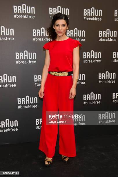 Irene Visedo attends a photocall at the Braun Summer Party on June 12 2014 in Madrid Spain