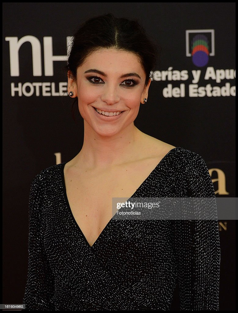 Irene Visedo attends Goya Cinema Awards 2013 at Centro de Congresos Principe Felipe on February 17, 2013 in Madrid, Spain.