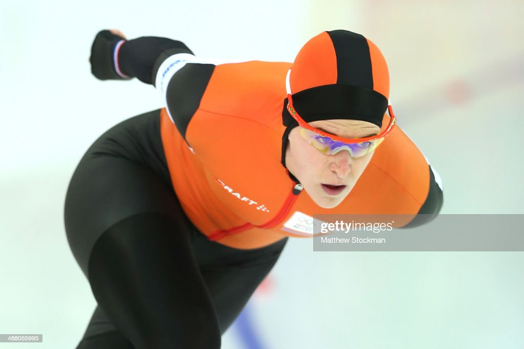 Irene Wust of the Netherlands competes during the Women's 3000m Speed Skating event during day 2 of the Sochi 2014 Winter Olympics at Adler Arena Skating Center on February 9, 2014 in Sochi, Russia.