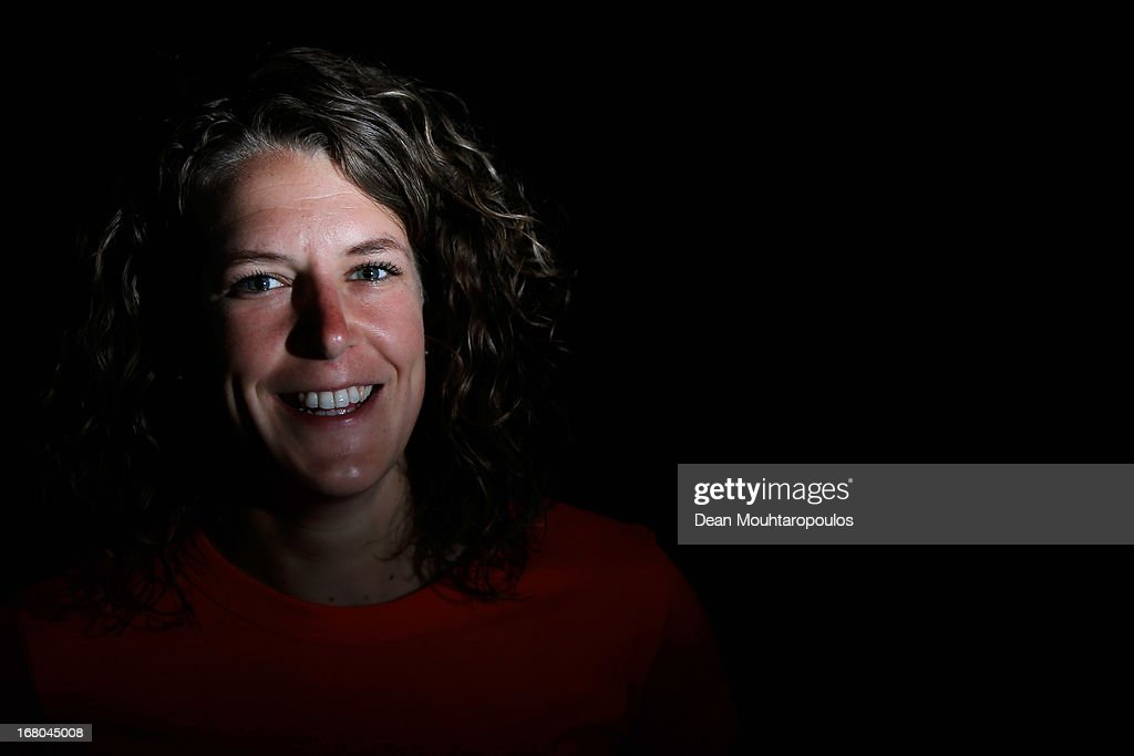 Irene Wust, poses during the NOC*NSF (Nederlands Olympisch Comite * Nederlandse Sport Federatie) Sochi athletes and officials photo shoot for Asics at the Spoorwegmuseum on May 4, 2013 in Utrecht, Netherlands.