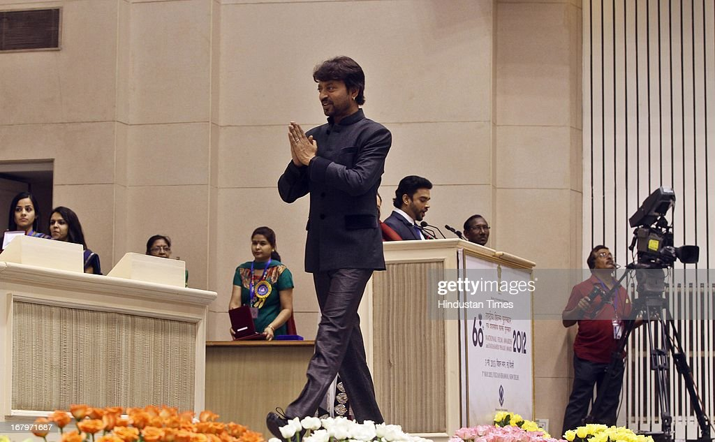 Irfan Khan arrives to recived best actor award to during60th National Film Awards on May 03, 2013 in New Delhi , India. Paan Singh Tomar' got best film award and its lead actor Irrfan Khan adjudged as the best actor.