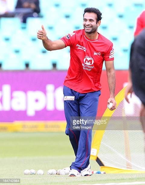 Irfan Pathan during a traing session prior the Karbonn Smart CLT20 Semi Final match between bizhub Highveld Lions and Delhi Daredevils at Sahara...