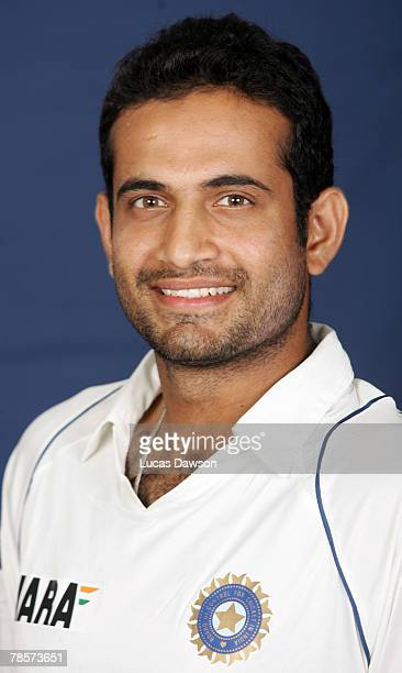 Irfan Pathan of India poses during the Indian cricket team portrait session at the Melbourne Cricket Ground on December 19 2007 in Melbourne Australia