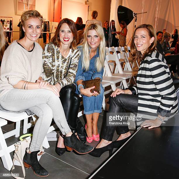 iriam Jacks Tanya Neufeldt Tanja Buelter and Ulrike Frank attend the 'La Boum Fashion Studio' by Soccx on September 18 2015 in Hoppegarten/ Berlin...