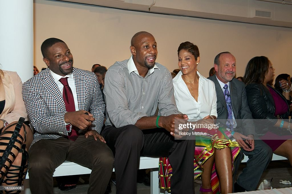 DJ Irie, Alonzo Mourning and Tracy Mourning attend NBA Champion Dwyane Wade's Night On The RunWade to benefit Wade's World Foundation on September 26, 2013 in Miami, Florida.