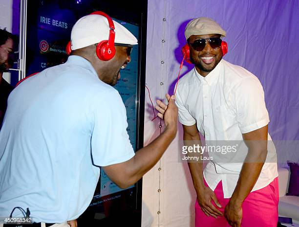 Irie and Dwyane Wade attend Celebrity Golf Tournament during DJ Irie Weekend at Miami Beach Golf Club on June 20 2014 in Miami Beach Florida