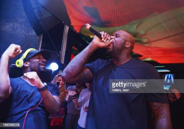 Irie and Shaquille O'Neal host Industry Tuesdays for the HEAT Eastern Conference Finals Kickoff Party at Bamboo Miami on May 22 2013 in Miami Florida