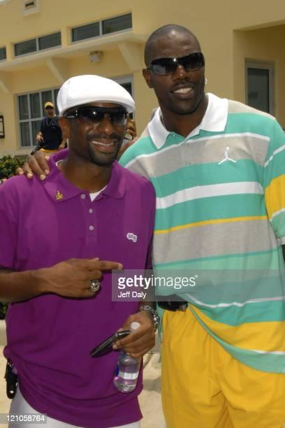 DJ Irie and Terrell Owens attend the 2007 Deutsche Irie Weekend Celebrity Golf Tournament Miami Beach Florida