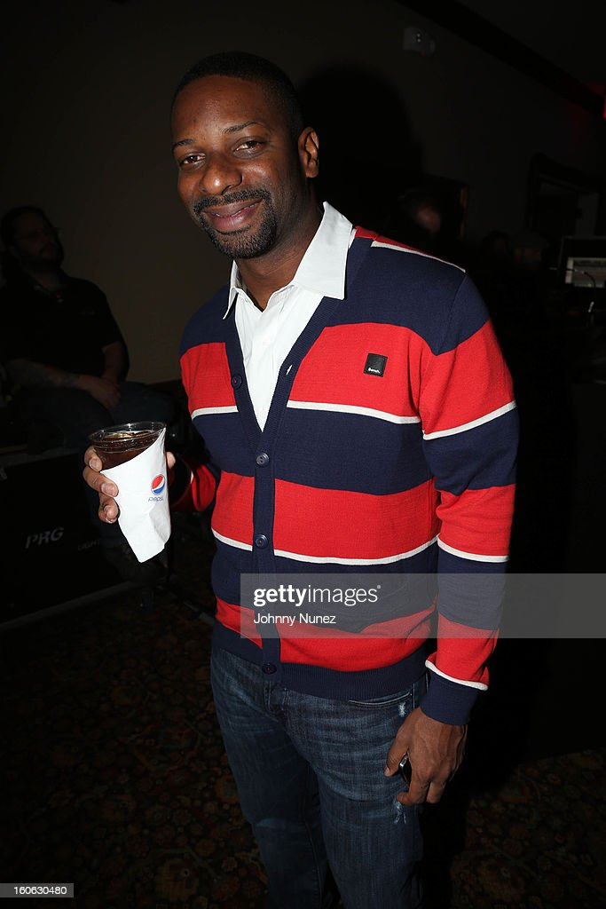 <a gi-track='captionPersonalityLinkClicked' href=/galleries/search?phrase=DJ+Irie&family=editorial&specificpeople=558947 ng-click='$event.stopPropagation()'>DJ Irie</a> attends The Pepsi 5th Quarter on February 3, 2013 in New Orleans, Louisiana.