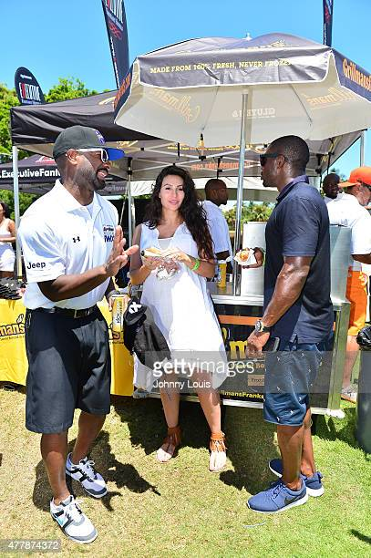 Irie Lilie Avagyan and Regie Bush attends JEEP 11th Annual Celebrity Golf Tournament during The 11th Annual Irie Weekend at Miami Beach Golf Club on...