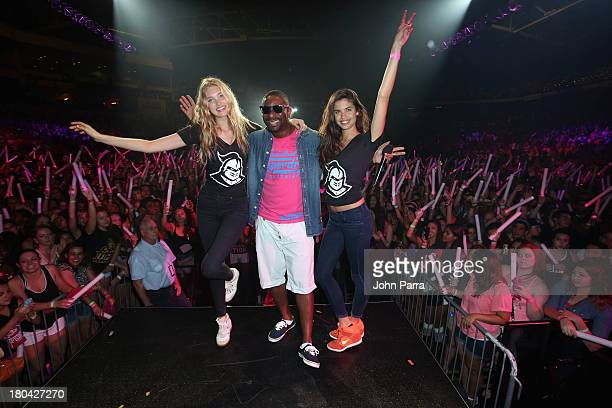 Irie with models Elsa Hosk and Sara Sampaio attend the Victoria's Secret PINK Nation Campus Party at University of Central Florida on September 12...