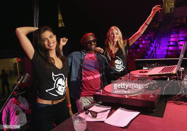 Irie with models Sara Sampaio and Elsa Hosk attend the Victoria's Secret PINK Nation Campus Party at University of Central Florida on September 12...