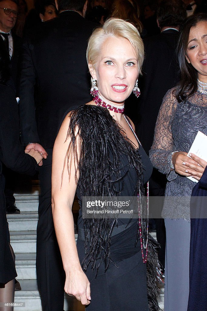 Irina Abramovich attends Arop Charity Gala with 'Ballet du Theatre Bolchoi'. Held at Opera Garnier on January 9, 2014 in Paris, France.