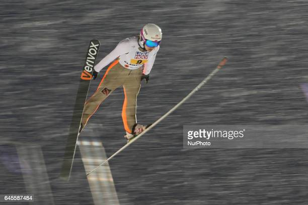 Irina Avvakumova competes in the Mixed Team HS100 Normal Hill Ski Jumping during the FIS Nordic World Ski Championships on February 26 2017 in Lahti...