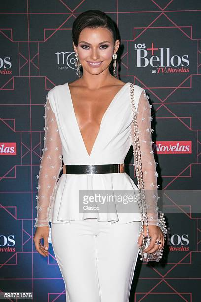 Irina Baeva poses during the red carpet of 'TvyNovelas Most Beautiful' at Carcamo de Dolores on August 31 2016 in Mexico City Mexico