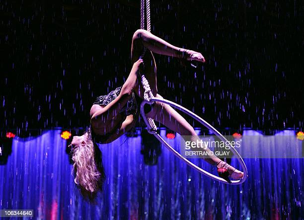 Irina Bouglione performs during the 'Prestige' Bouglione circus show at the Cirque d'Hiver in Paris on October 26 2010 AFP PHOTO / BERTRAND GUAY