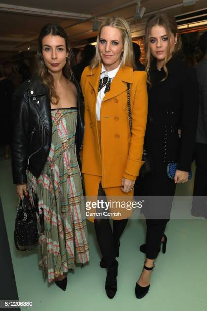 Irina Lakicevic Alice NaylorLeyland and Bea Fresson attend a cocktail party hosted by Laura Bailey and Zanzan at Alex Eagle on November 9 2017 in...