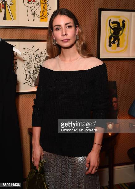 Irina Lakicevic attends the Julia RestoinRoitfeld Christmas Edit for Warehouse launch at Mark's Club on October 18 2017 in London England