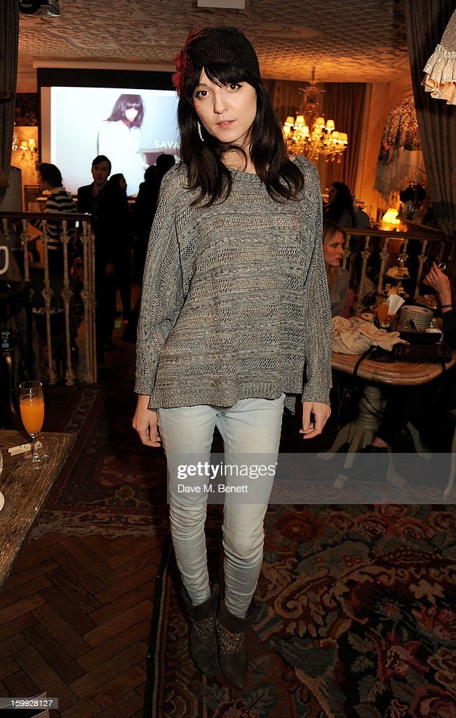 <a gi-track='captionPersonalityLinkClicked' href=/galleries/search?phrase=Irina+Lazareanu&family=editorial&specificpeople=3806030 ng-click='$event.stopPropagation()'>Irina Lazareanu</a> attends afternoon tea hosted by Savannah Miller to celebrate the launch of the Savannah Spring/Summer 2013 collection at Mari Vanna on January 23, 2013 in London, England.