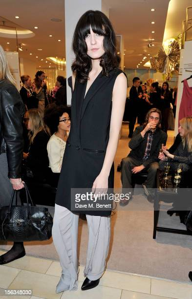Irina Lazareanu attends an evening with Donna Karan hosted by Harvey Nichols to celebrate the Resort 2013 Collection launch at Harvey Nichols on...