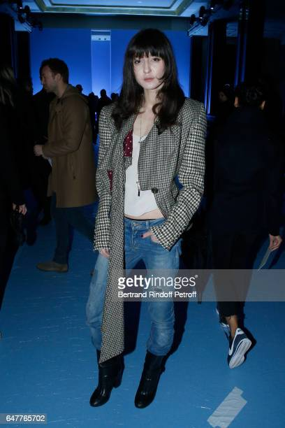 Irina Lazareanu attends the Haider Ackermann show as part of the Paris Fashion Week Womenswear Fall/Winter 2017/2018 on March 4 2017 in Paris France