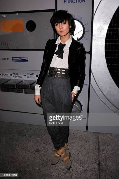 Irina Lazareanu attends the Mr Brainwash solo exhibition opening on February 11 2010 in New York City