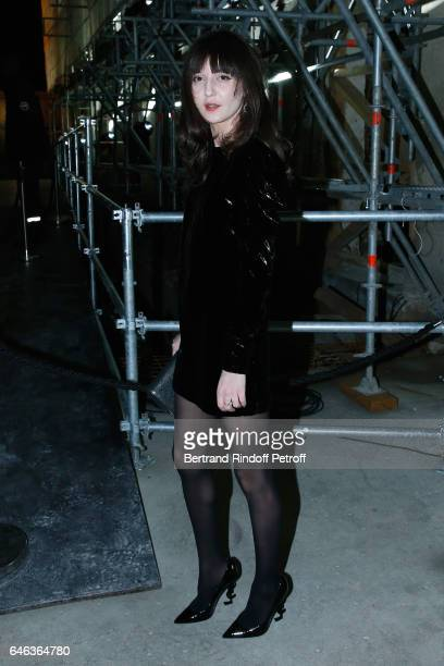 Irina Lazareanu attends the Saint Laurent show as part of the Paris Fashion Week Womenswear Fall/Winter 2017/2018 on February 28 2017 in Paris France
