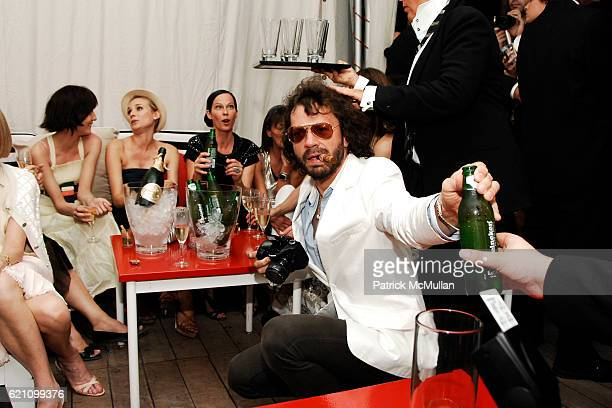 Irina Lazareanu Diane Kruger Lady Amanda Harlech and Olivier Zahm attend CHANEL 2008 Cruise Collection Afterparty at The Raleigh Hotel on May 15 2008...