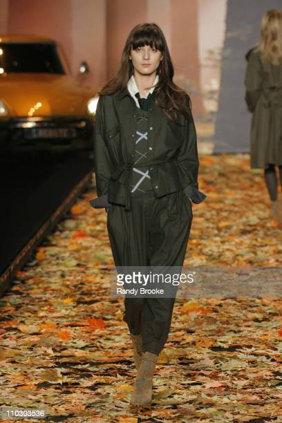 Irina Lazareanu wearing Lacoste Fall 2007 during MercedesBenz Fashion Week Fall 2007 Lacoste Runway at The Tent Bryant Park in New York City New York...