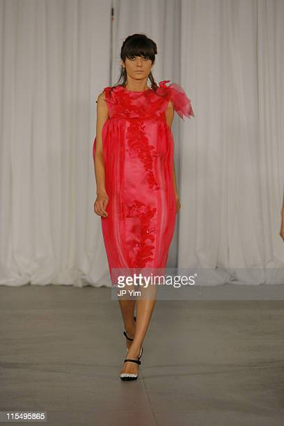 Irina Lazareanu wearing Rodarte Spring 2007 during Olympus Fashion Week Spring 2007 Rodarte Runway in New York City New York United States