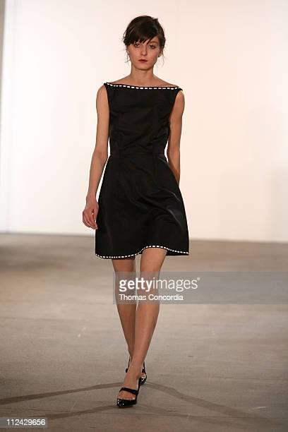 Irina Lazareanu wearing Thakoon Fall 2006 during Olympus Fashion Week Fall 2006 Thakoon Runway at Exit Art in New York City New York United States