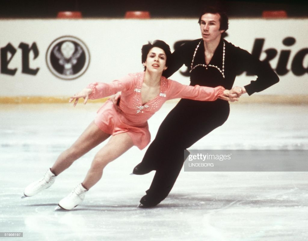 Irina Rodnina and Alexander Zaitsev from the Soviet Union perform their program during the pairs' figure skating competition 07 March 1976 in G?teborg during the World Figure Skating championships. Rodnina and Zaitsev won the gold medal.