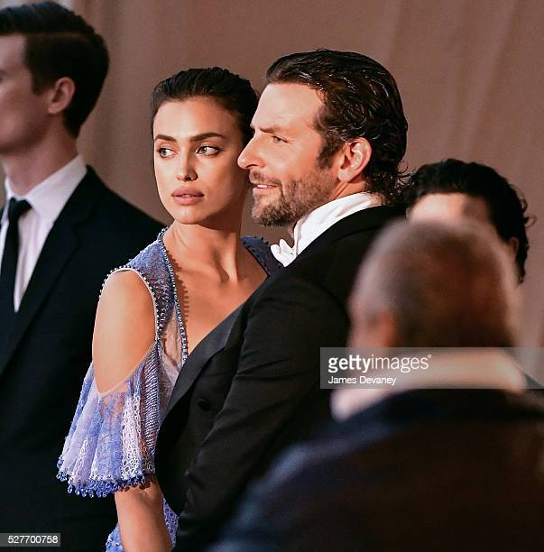 Irina Shayk and Bradley Cooper attend 'Manus x Machina Fashion in an Age of Technology' Costume Institute Gala at Metropolitan Museum of Art on May 2...