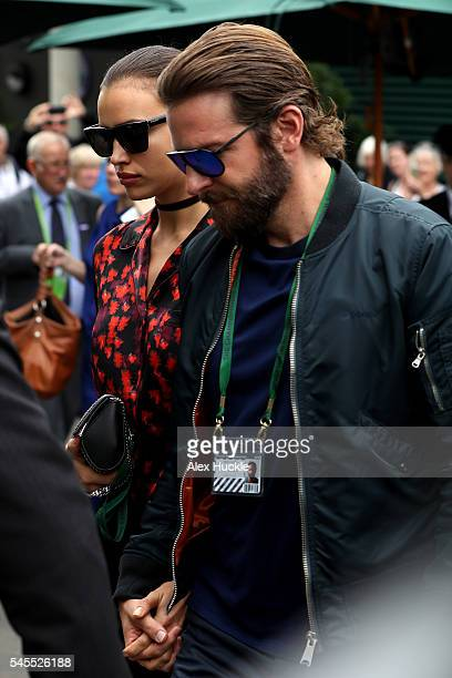 Irina Shayk and Bradley Cooper seen arriving at Wimbledon on July 8 2016 in London England