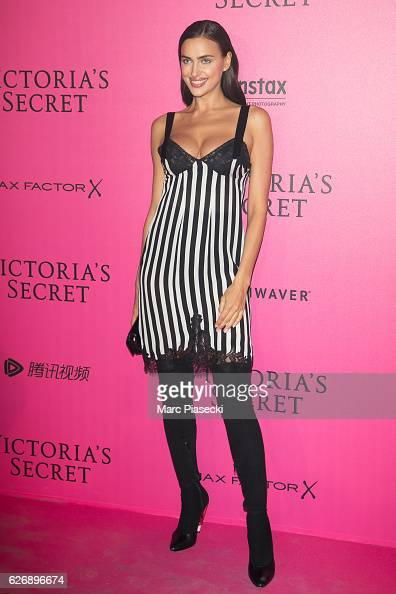 Irina Shayk attends '2016 Victoria's Secret Fashion Show' after show photocall at Le Grand Palais on November 30 2016 in Paris France