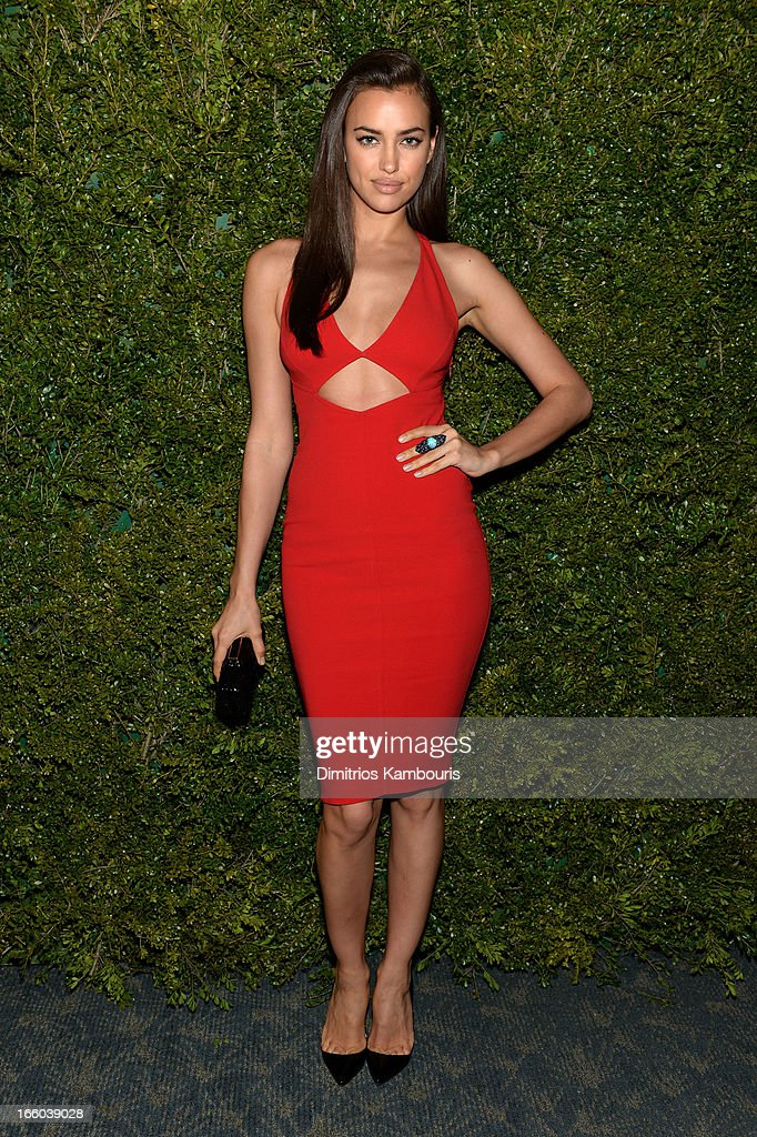 Irina Shayk attends a dinner in honor of Halle Berry as she joins Michael Kors and the United Nations World Food Programme to help fight world hunger. The event was held at The Pool Room at the Four Seasons on April 6, 2013 in New York City.