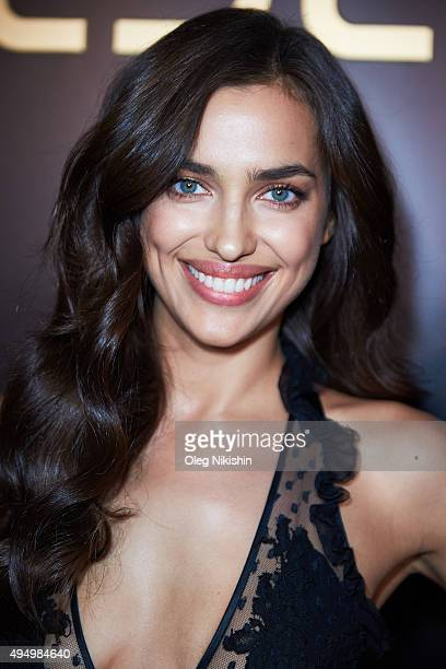 Irina Shayk attends a L'Oreal reception at the Four Seasons Hotel at The Four Seasons Hotel on October 28 2015 in Moscow Russia