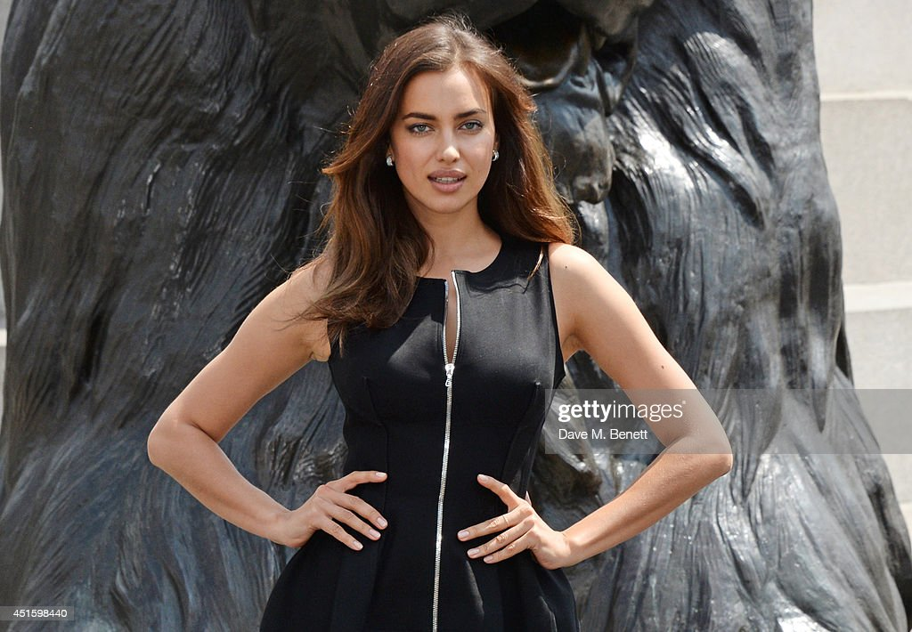 Irina Shayk attends a photocall for 'Hercules' at Nelson's Column in Trafalgar Square on July 2, 2014 in London, England.