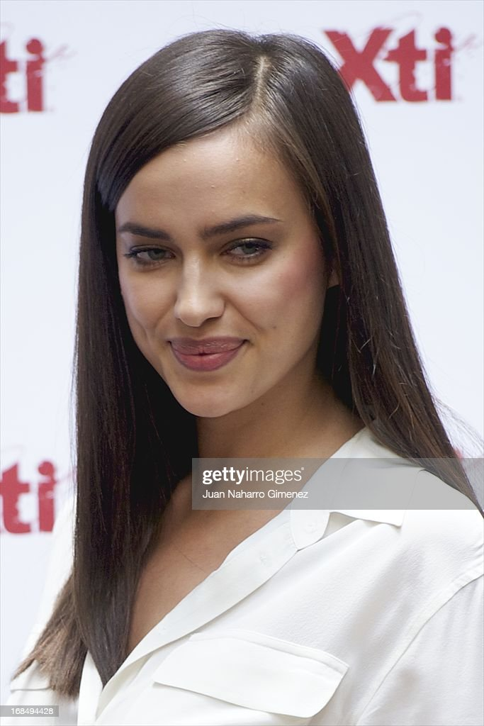 Irina Shayk attends a presentation of the new Xti shoe collection at Hospes Hotel on May 10, 2013 in Madrid, Spain. on May 10, 2013 in Madrid, Spain.