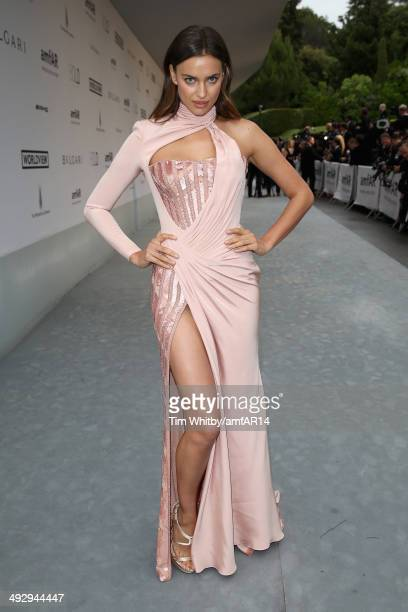 Irina Shayk attends amfAR's 21st Cinema Against AIDS Gala Presented By WORLDVIEW BOLD FILMS And BVLGARI at Hotel du CapEdenRoc on May 22 2014 in Cap...