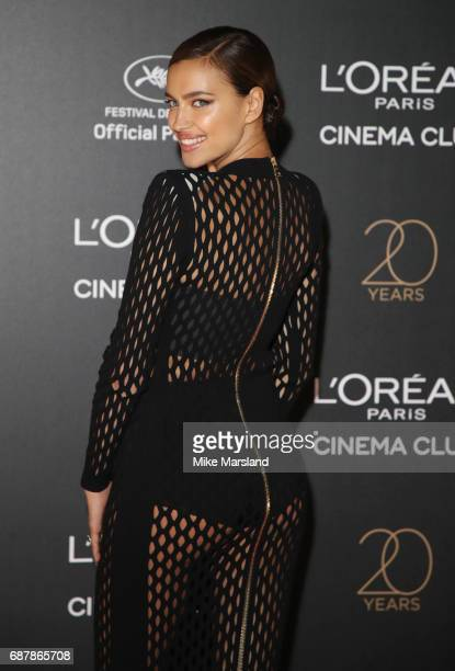 Irina Shayk attends Gala 20th Birthday of L'Oreal In Cannes during the 70th annual Cannes Film Festival at Martinez Hotel on May 24 2017 in Cannes...