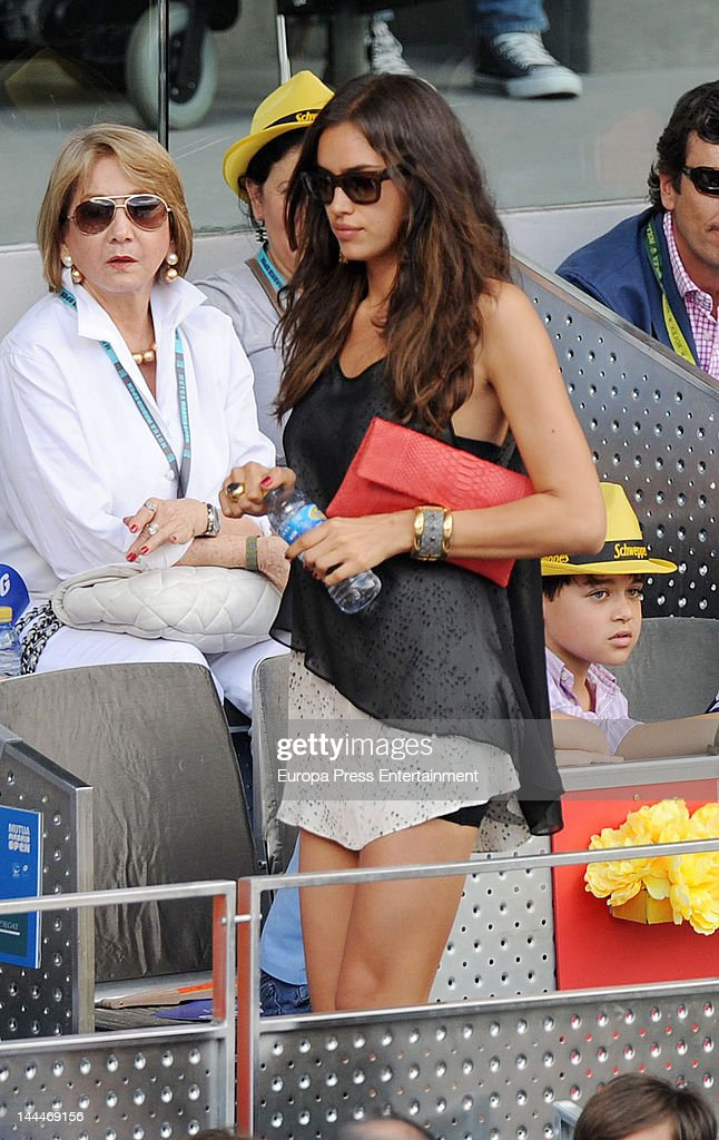 Irina Shayk attends Mutua Madrilena Madrid Open on May 13, 2012 in Madrid, Spain.