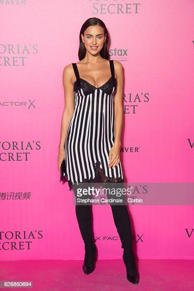 Irina Shayk attends the 2016 Victoria's Secret Fashion Show after party at Le Grand Palais on November 30 2016 in Paris France