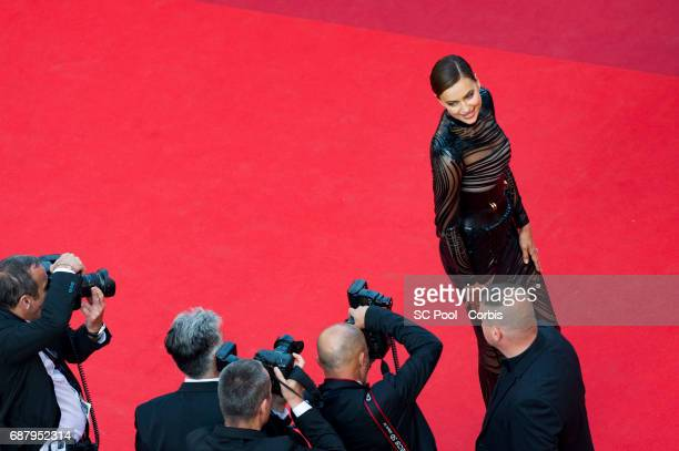 Irina Shayk attends 'The Beguiled' premiere during the 70th annual Cannes Film Festival at Palais des Festivals on May 24 2017 in Cannes France