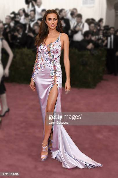 Irina Shayk attends the 'China Through The Looking Glass' Costume Institute Benefit Gala at the Metropolitan Museum of Art on May 4 2015 in New York...
