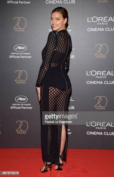 Irina Shayk attends the Gala 20th Birthday Of L'Oreal In Cannes during the 70th annual Cannes Film Festival at Martinez Hotel on May 24 2017 in...